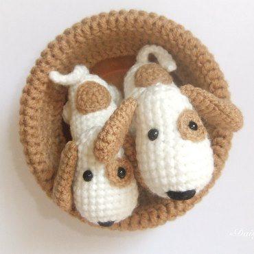 Собачки амигуруми крючком