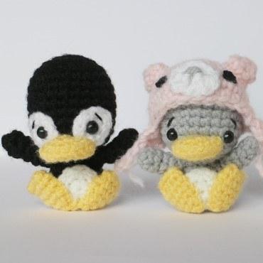 Пингвины амигуруми крючком