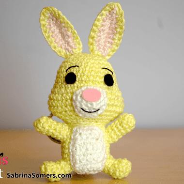 Кролик амигуруми из Винни Пуха