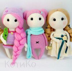 Куколки амигуруми крючком