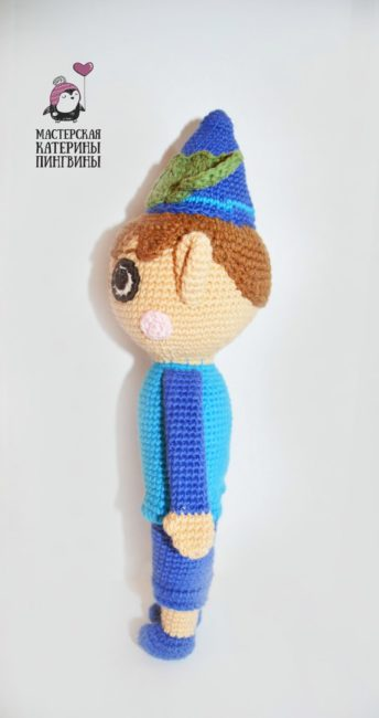 схема вязаной куклы крючком