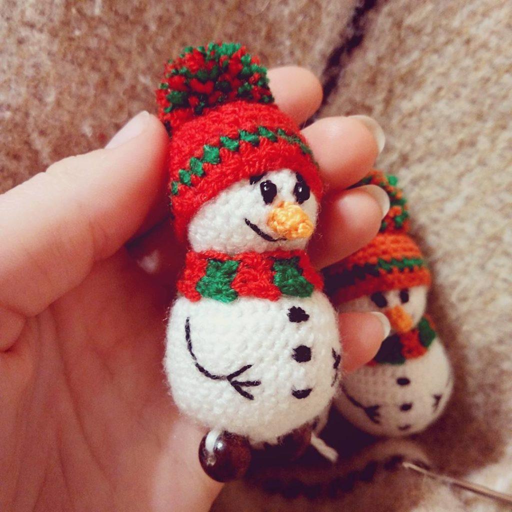 вязание крючком схема снеговика фото
