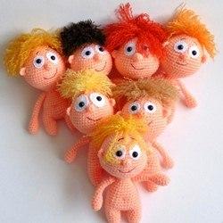 Вязаные крючком куклы пупсики