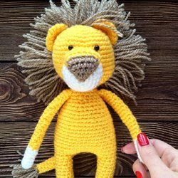 Лев амигуруми игрушка крючком