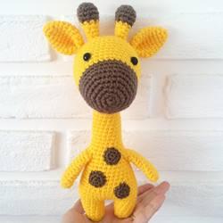 Жираф игрушка крючком амигуруми