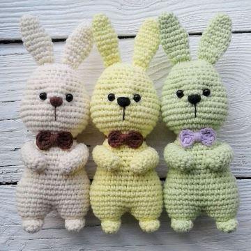 Пасхальные кролики схема амигуруми