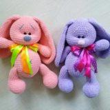 Плюшевые зайцы игрушки амигуруми