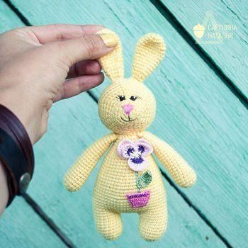 Зайчик амигуруми игрушка крючком