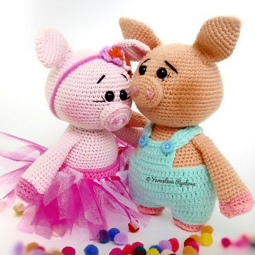 Свинки амигуруми крючком