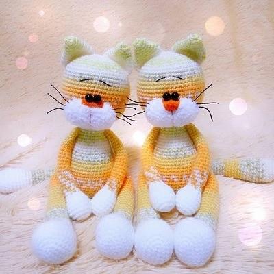 Котик амигуруми крючком