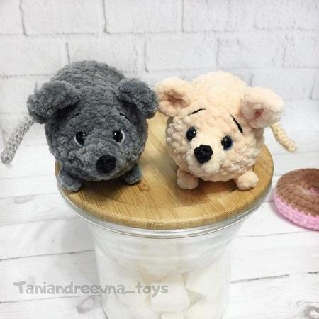 Вязаные мышки крючком