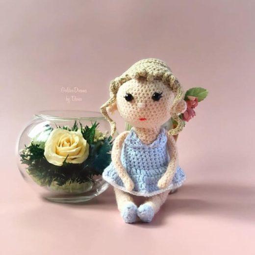 Вязаная кукла Лолли